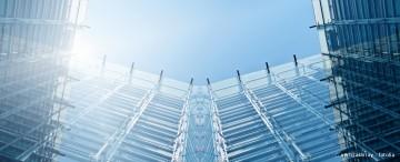 Glas Fassade Bürogebäude Elektrische Fenster