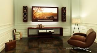 Entspannte Wohnzimmer Atmosphäre