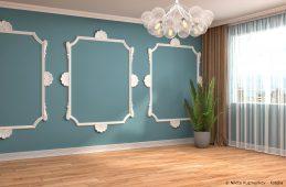 Wand mit Stuck Rahmen