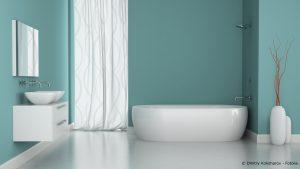 Badezimmer gestrichen