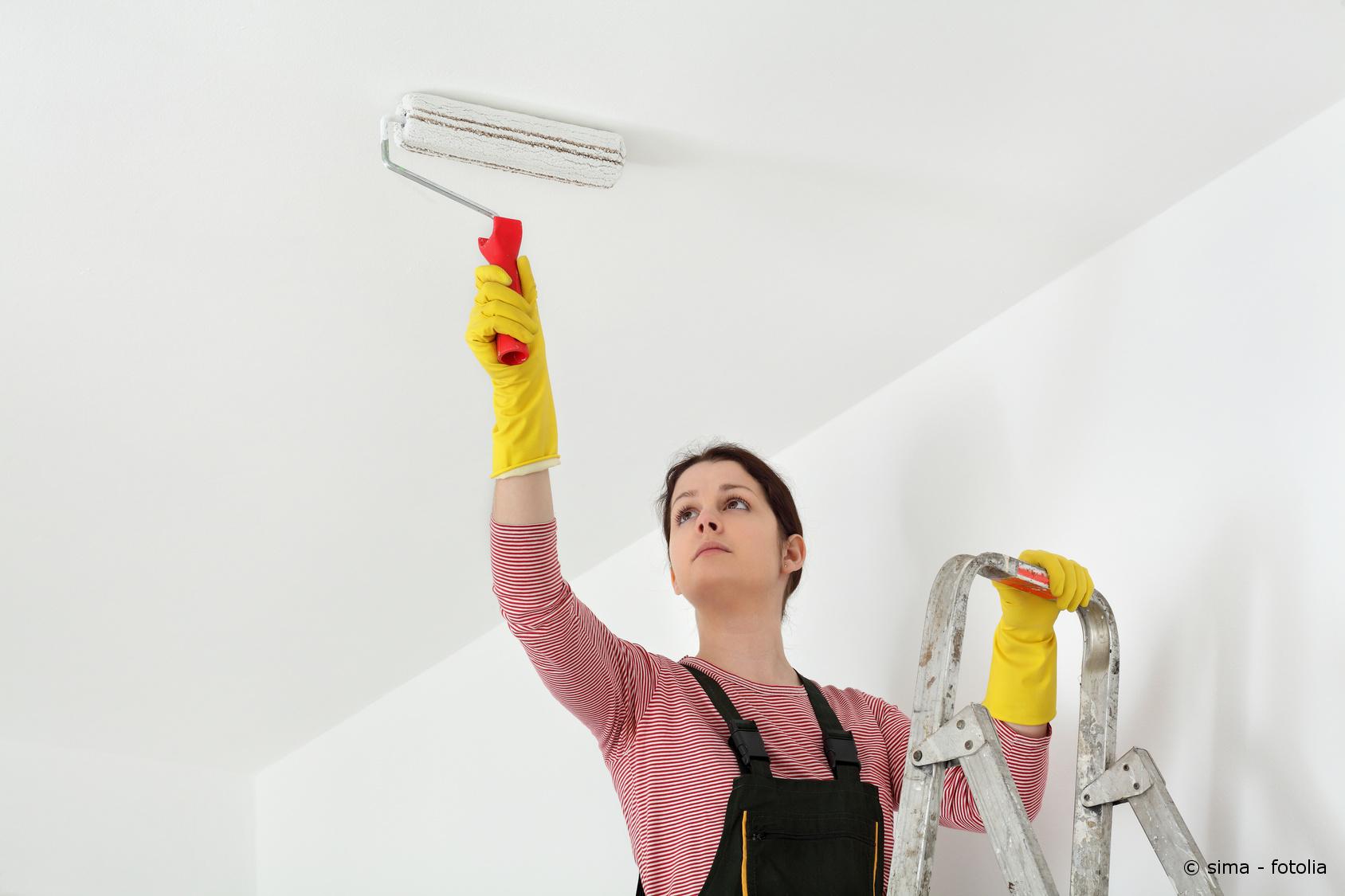 wertvolle tipps zum streichen der decke maler und lackierer. Black Bedroom Furniture Sets. Home Design Ideas