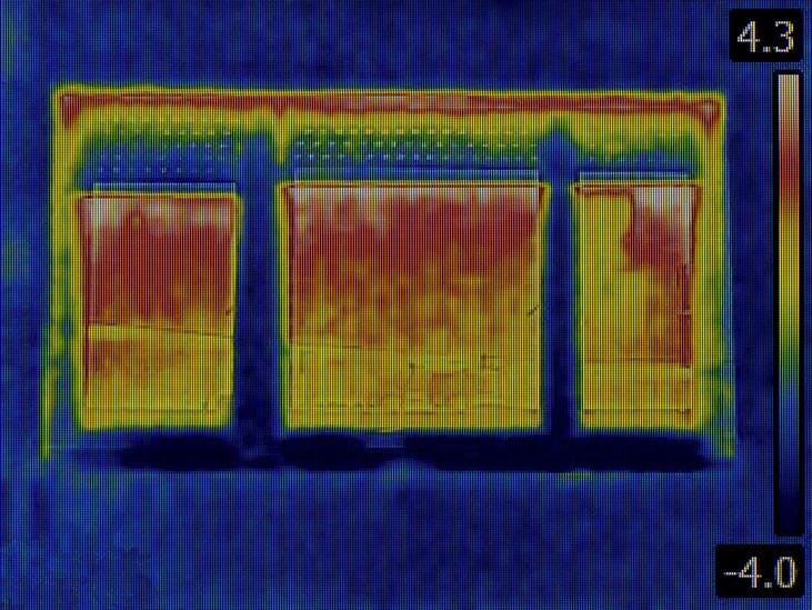 Thermografieaufnahme zum Aufspüren der Wärmeverluste über Außenrollladen