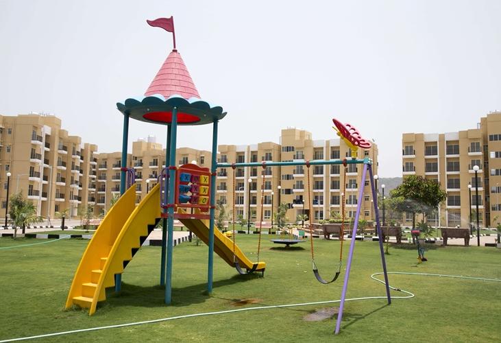 Auch Spielplätze haben in Cohousing Siedlungen Platz.