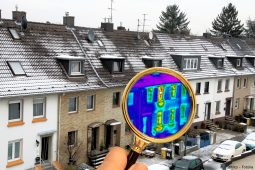 Wärmebild eines Reihenhauses