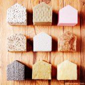 Verschiedene mineralische Dämmstioffe