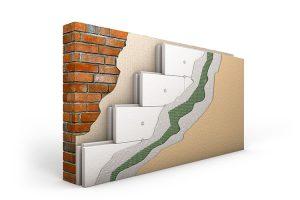 Aufbau einer gedämmten Wand