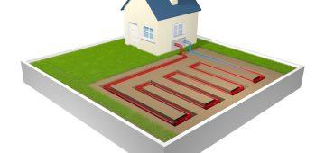 graphische Darstellung einer Geothermieanlage