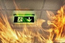 Brandschutztüren schützen den Notausgang