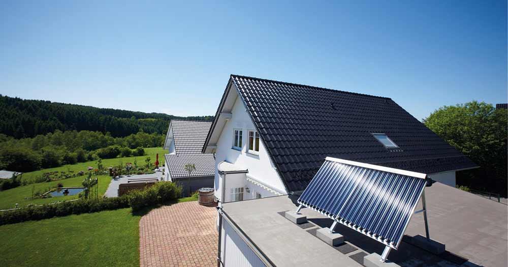 Solarthermie gehört zu den umweltfreundlichsten Heizungssystemen