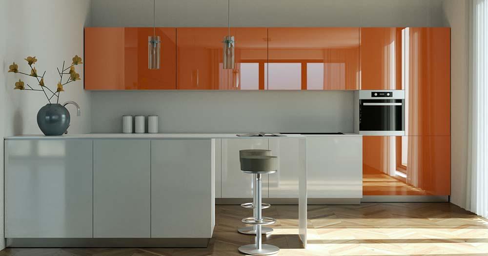 Lackierte Küchenfronten sind besonders langlebig