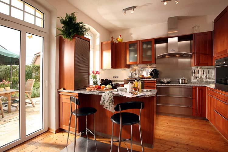 Küchenfront aus Massivholz, Kirsche