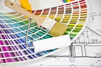 Farbpalette eines Malers