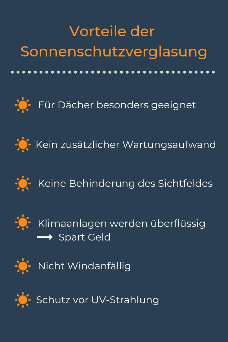 Infografik: Vorteile durch Sonnenschutzglas